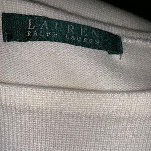 Lauren Ralph Lauren Dresses - Cream sleeveless peplum knee length dress.
